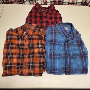 Duluth Trading Co Flannel Button Down (Lot of 3)